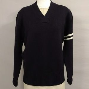 Polo Ralph Lauren NWOT Preppy Wool Sweater Navy Lg